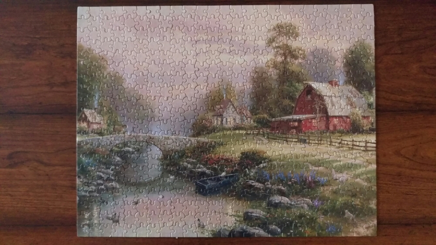 Sunset At Riverbend Farm (500 pc)