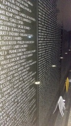 Some of the Vietnam Memorial's names