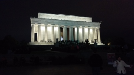 Arriving at the Lincoln Memorial