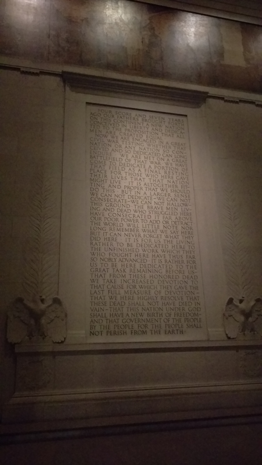 The Gettysburg addressd